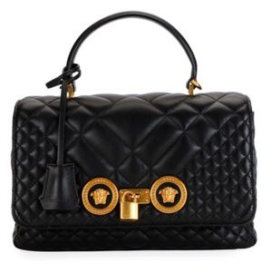 SOLD! VERSACE Icon Quilted Dual Carry Bag